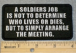 A Soldiers Job - Embroidery Patch