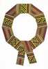 Kente wreath (CC24) (Sold Out)