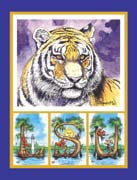 Mike the Tiger, Set of 8