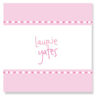Pink on Pink Polka Border/Set of 9