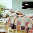 [Modern Plaid] 100% Cotton 3PC Comforter Cover/Duvet Cover Combo (Twin Size)