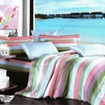 [Shoreline] 100% Cotton 4PC Comforter Cover/Duvet Cover Combo (Queen Size)