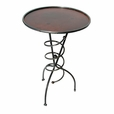 Coil & Copper End Table - Round