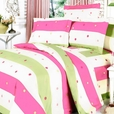 [Colorful Life] 100% Cotton 3PC Mini Duvet Cover Set (Queen Size)