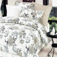 [Ivory Rose] 100% Cotton 5PC Comforter Set (Full Size)