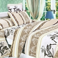 [Beige Deer Totem] 100% Cotton 4PC Duvet Cover Set (King Size)