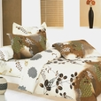 [Brown Chestnut] 100% Cotton 3PC Duvet Cover Set (Twin Size)