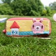 [Rabbit's Home] Embroidered Applique Pencil Pouch Bag / Cosmetic Bag / Carrying Case (7.5*2.8*1.4)
