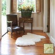 Premium Single Longwool Rug - Cream