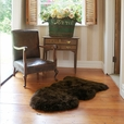 Premium Single Longwool Rug - Chocolate