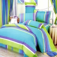 [Rhythm of Life] 100% Cotton 5PC MEGA Duvet Cover Set (Twin Size)