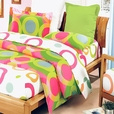 [Rhythm of Colors] 100% Cotton 3PC Mini Comforter Cover/Duvet Cover Set (Full Size)