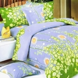 [Dandelion Dream] 100% Cotton 3PC Mini Duvet Cover Set (Queen Size)