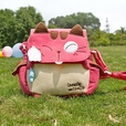 [Love Mio Mio] Embroidered Applique Kids Kitty Shoulder Bag / Swingpack / Travel Bag (8.3*7.5*2.4)