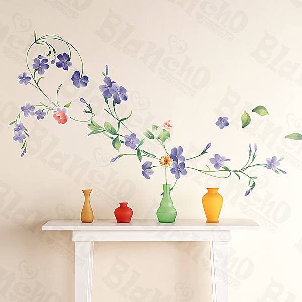 Purple Flowers Large Wall Decals Stickers Appliques Home