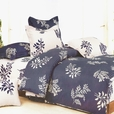 [Purple Gray Flourish] 100% Cotton 3PC Duvet Cover Set (Twin Size)