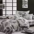 [Elm Leaf] 100% Cotton 3PC Comforter Cover/Duvet Cover Combo (Twin Size)