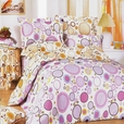 [Baby Pink] 100% Cotton 5PC Comforter Set (Full Size)
