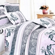 [Purple Deer Totem] 100% Cotton 5PC Comforter Set (Full Size)