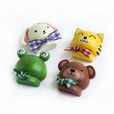 [Smile Animals-1] - Brooch / Brooch Pin / Animal Pin Brooch (Set of 4)