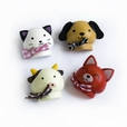 [Smile Animals-2] - Brooch / Brooch Pin / Animal Pin Brooch (Set of 4)