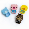 [Cute Animals-1] - Brooch / Brooch Pin / Animal Pin Brooch (Set of 4)