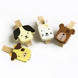 [Cute Animals-1] - Wooden Clips / Wooden Clamps / Mini Clips (Set of 4)