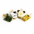 [Cute Animals-2] - Wooden Clips / Wooden Clamps / Mini Clips (Set of4)