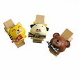 [Naughty Animals-1] - Wooden Clips / Wooden Clamps / Mini Clips (Set of 3)