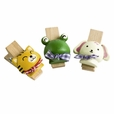 [Naughty Animals-2] - Wooden Clips / Wooden Clamps / Mini Clips (Set of3)