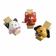[Naughty Animals-3] - Wooden Clips / Wooden Clamps / Mini Clips (Set of3)