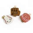 [Colorful Life-B] - Wooden Clips / Wooden Clamps / Mini Clips (Set of 3)