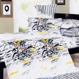 [Sporting  Style] 100% Cotton 5PC Comforter Set (Queen Size)