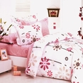 [Cherry Blossom] 100% Cotton 5PC Comforter Set (King Size)