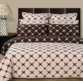 Blush & Chocolate 8PC Bloomingdale Duvet covers and sheet set(King Size)