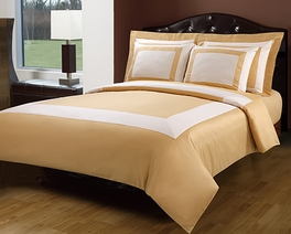 King/Calking Gold/Ivory Hotel 5-PC Duvet cover set