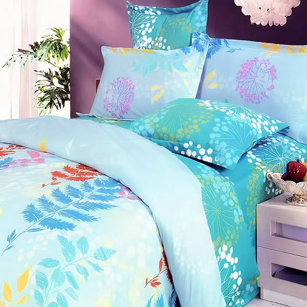 Blancho Bedding Turquoise Spring 100 Cotton 5pc