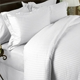King / Calking Duvet cover Set Sateen Stripe 300 Thread count Egyptian cotton