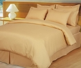 Gold Damask Stripe Down Alternative 4-pc Comforter Set, 100% Egyptian cotton, 600 Thread count(Full/Queen)