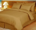 Bronze Damask Stripe Down Alternative 4-pc Comforter Set, 100% Egyptian cotton, 600 Thread count