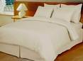 Ivory Damask Stripe, Down Alternative 4-pc Comforter Set,100% Egyptian cotton, 600 Thread count(King/Calking)