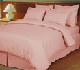 Pink/Blush Damask Stripe Down Alternative 4-PC comforter set, 100% Egyptian cotton, 600 Thread count(King/Calking)