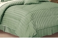Olympic Queen Bed Skirt, 320 Thread count Sateen Stripe