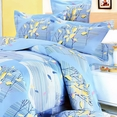 [Tender Blue] 100% Cotton 4PC Duvet Cover Set (Full Size)