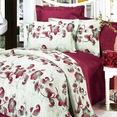 [China Red] 100% Cotton 4PC Duvet Cover Set (King Size)