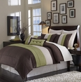 Grand Park SAGE/CHOCOLATE 8PC Bed in a Bag(King Size)