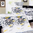 [Sporting  Style] 100% Cotton 4PC Duvet Cover Set (Queen Size)