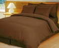 Stripe Chocolate Brown Down Alternative Bed in A Bag Egyptian cotton 600 Thread count(Calking Size)