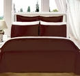 """Chocolate Olympic Queen Solid Bed in A Bag 90x92"""" Egyptian cotton With Down Alternative Comforter"""
