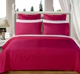 """Burgundy Olympic Queen Solid Bed in A Bag 90x92"""" Egyptian cotton With Down Alternative Comforter"""